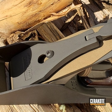 Cerakoted Refinished Planer Hand Tool In Graphite Black And Burnt Bronze