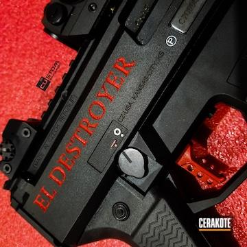 Cerakoted Laser Engraved Cz Scorpion With Cerakoted C-143 Stoplight Red