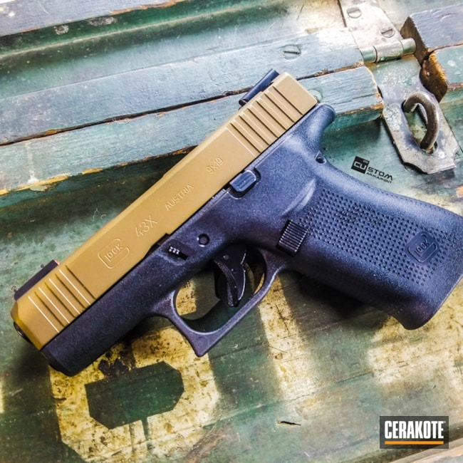 "Thumbnail image for project ""Glock 43X Cerakoted in H-148 Burnt Bronze"""
