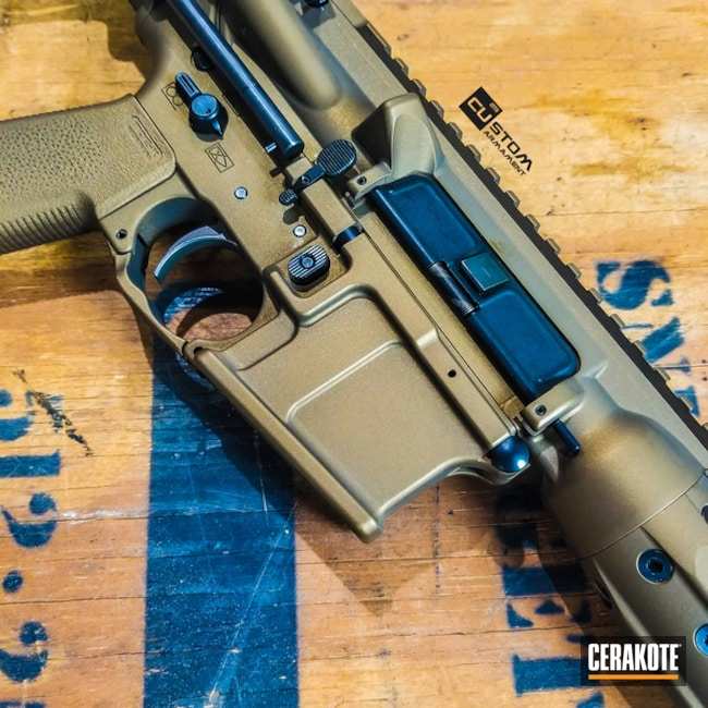 "Thumbnail image for project ""LWRC International AR-15 in Cerakote H-148 Burnt Bronze"""