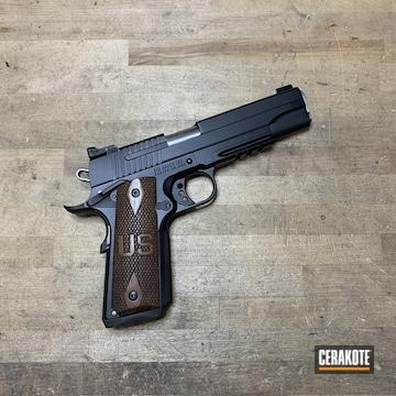 Cerakoted Sig Sauer 1911 Handgun Cerakoted H-146 Graphite Black