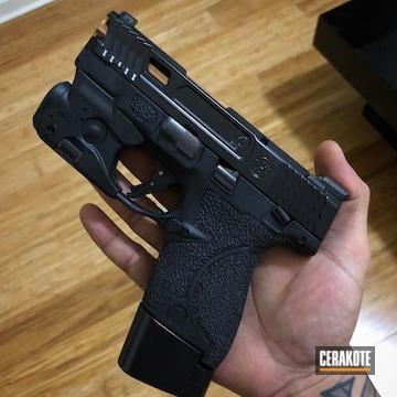 Cerakoted Elite Series Blackout Used On This Custom M&p Shield 9mm