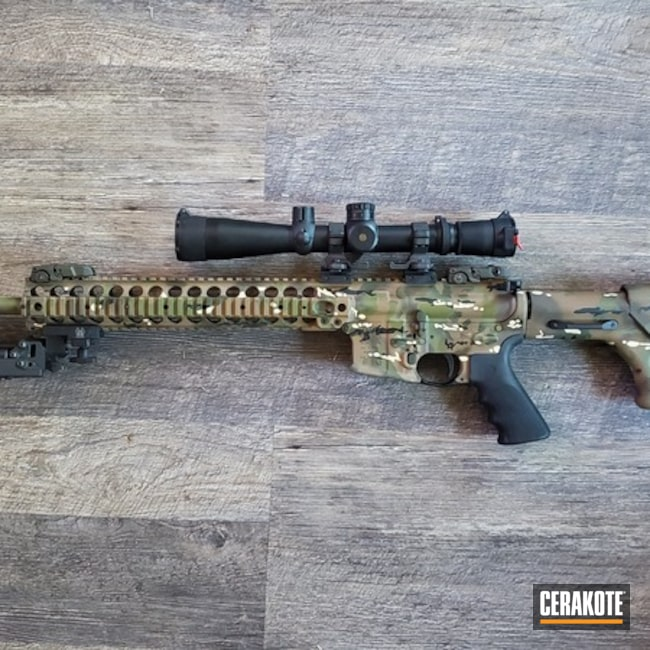 Matching Shotgun and AR with a Cerakote MultiCam Finish
