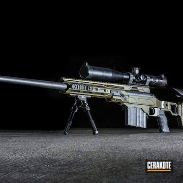 Cerakoted .408 Rifle Cerakoted With H-240 And H-146