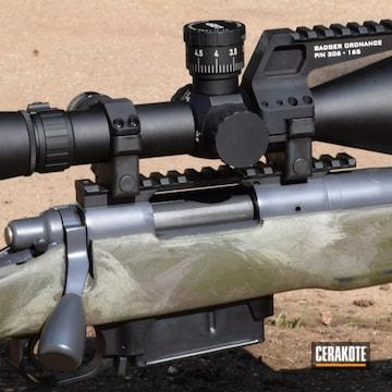 Cerakoted Remington 700 Bolt Action Rifle With A Custom Cerakote Camo Finish
