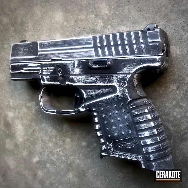 "Thumbnail image for project ""Distressed Walther Handgun with Cerakote H-146 and H-297"""