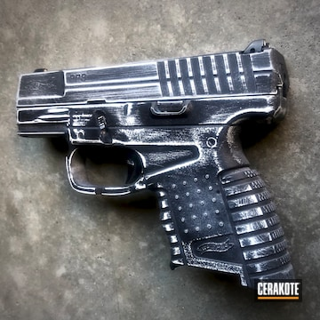 Cerakoted Distressed Walther Handgun With Cerakote H-146 And H-297