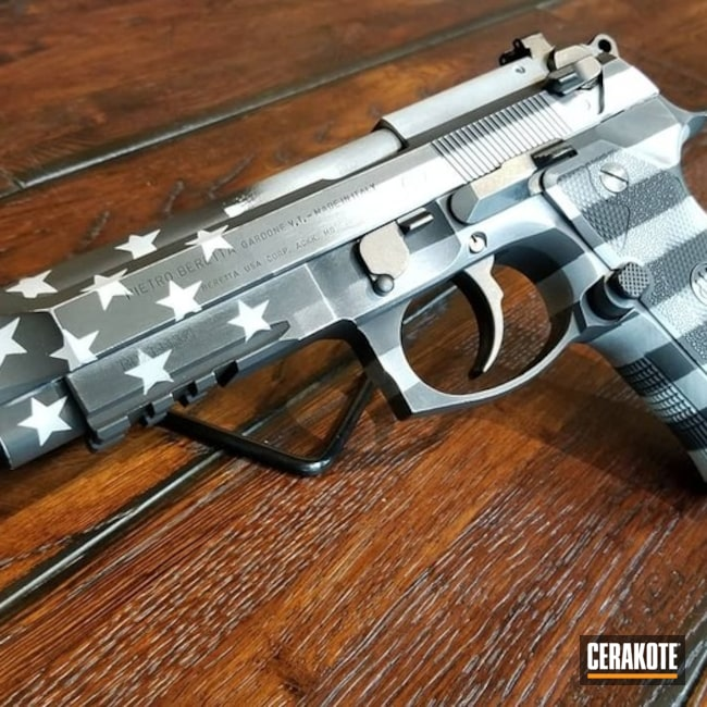 Cerakoted American Flag on this Beretta M9A3