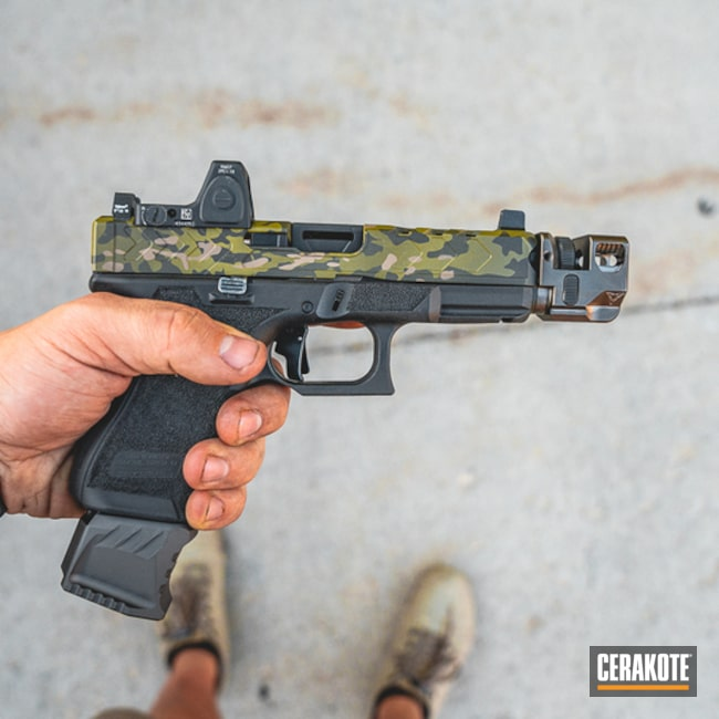 Cerakoted Custom Cerakote Multicam Finish