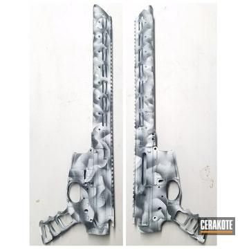 Cerakoted Upper / Lower / Handguard Freehand Snow Camo