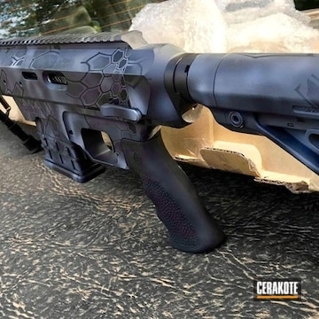 Cerakoted Rifle Cerakoted With A Custom Kryptek Camo Finish
