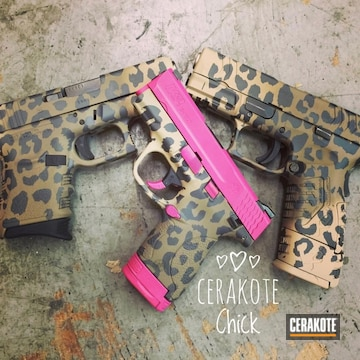 Cerakoted Assorted Handguns Cerakoted With A Custom Leopard Print Finish