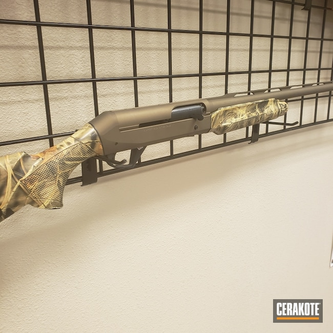 "Thumbnail image for project ""Benelli Super Black Eagle II Cerakoted with Burnt Bronze"""