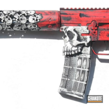 Cerakoted Unique-ars And Spike's Tactical Rifle With A Custom Cerakote Finish