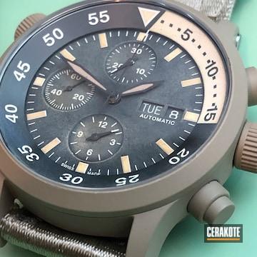 Cerakoted Custom Watch Cerakoted With H-199 Desert Sand