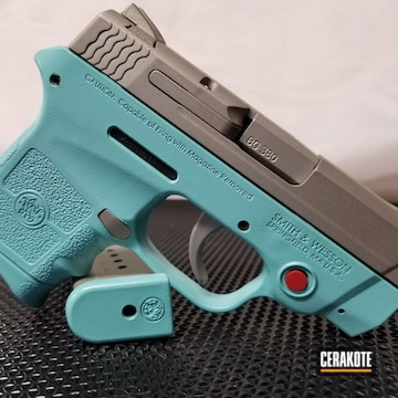 Cerakoted Smith & Wesson M&p Cerakoted With H-175 Robin's Egg Blue And H-158 Shimmer Aluminum