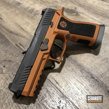 Cerakoted Sig Sauer P320 Cerakoted With H-310 Copper Suede