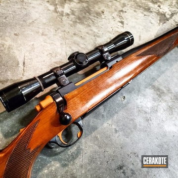 Cerakoted Ruger M77 In 7mm Mag Cerakoted With H-238 And H-310