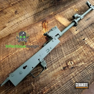 Cerakoted Ak Rifle Barreled Action Cerakoted With H-240