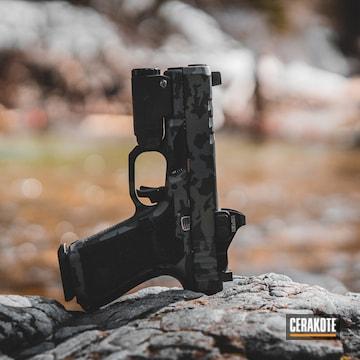 Cerakoted Custom Glock 19 With A Grey Multicam Finish