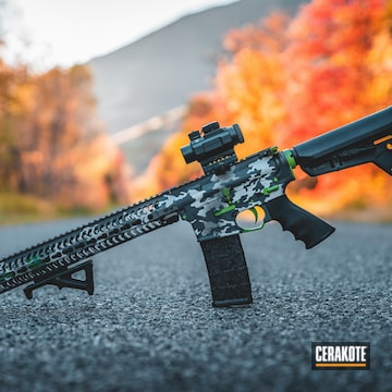 Cerakoted Spike's Honey Badger Rifle Cerakoted With H-1190 And H-140