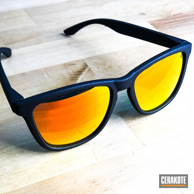 Sunglass Frames Cerakoted with H-146 Graphite Black