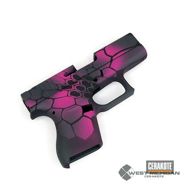 Cerakoted Pink And Black Kryptek Glock Handgun