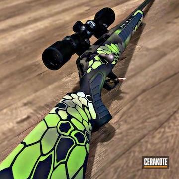 Cerakoted Bolt Action Rifle With Custom Cerakote Finish