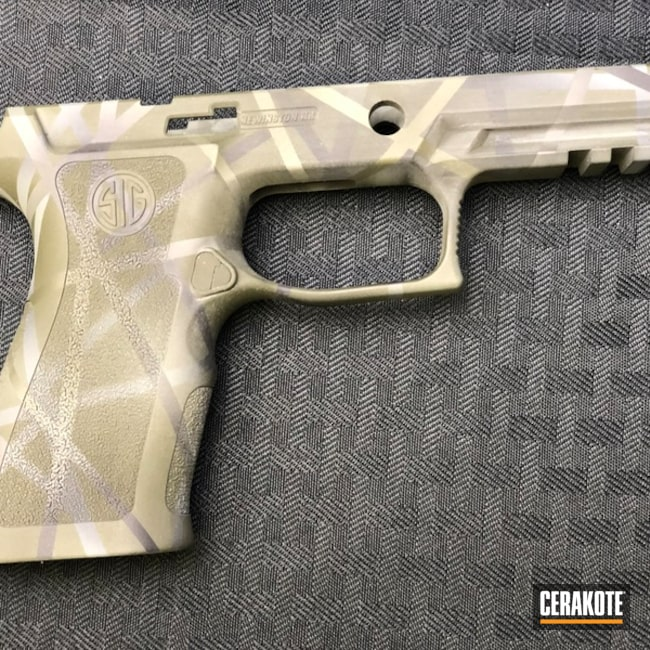 Sig Sauer Frame Finish using Cerakote H-146, H-240 and H-214