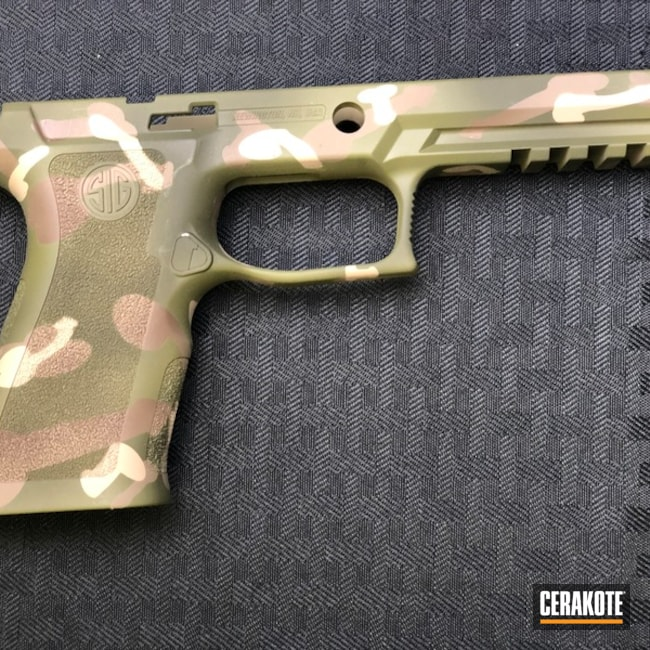 Sig Sauer Pistol Frame with Cerakote MultiCam Finish