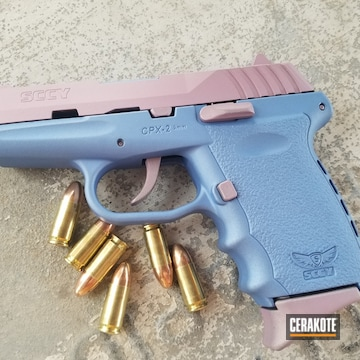 Cerakoted Two Toned Sccy Handgun With Cerakote H-311 And H-326