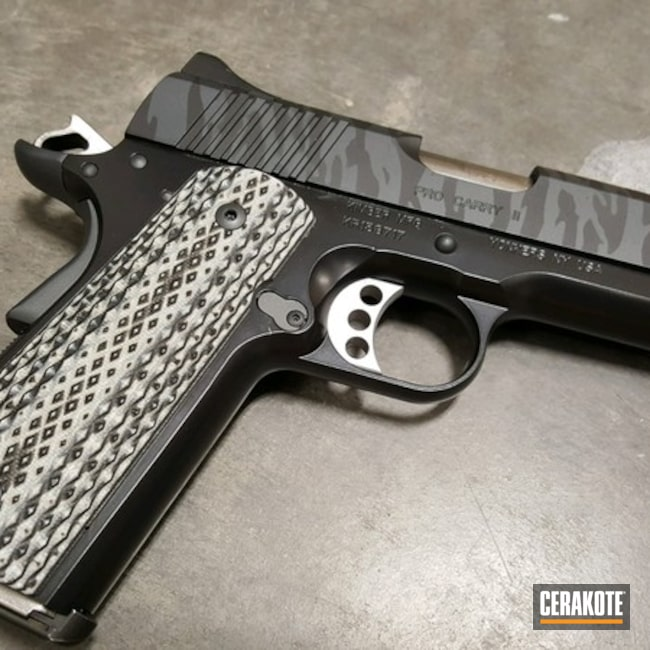 Kimber 1911 Pro Carry II with a Cerakote Tiger Stripe Finish