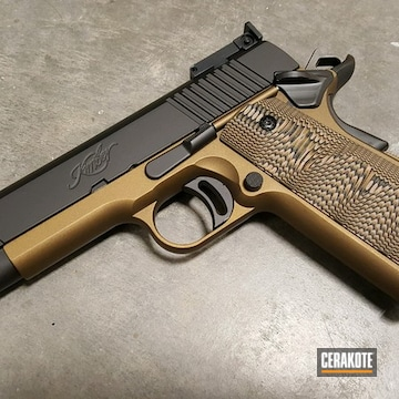 Cerakoted Two Toned Kimber 1911 Cerakoted With H-148 And H-190