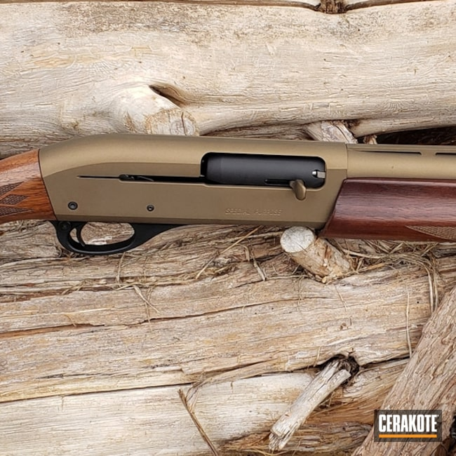 Remington 11-87 Shotgun Cerakoted with H-146 and H-148