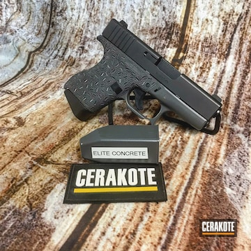 Cerakoted Glock 43 Handgun Cerakoted With E-160 Concrete