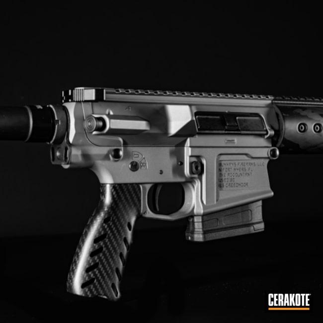 Cerakoted: S.H.O.T,Aero Precision,Rifle,Carbon Fiber,AR-10,Tactical Rifle,Gun Coatings,Tactical Grey H-227