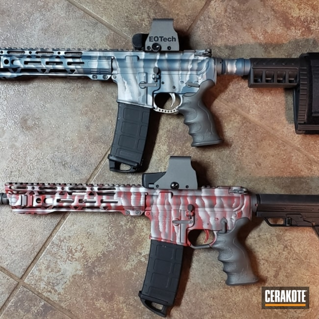 Anderson Mfg. Rifles with Custom Cerakote Stripe Camo Finishes