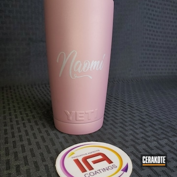 Cerakoted Yeti Cup Cerakoted With H-311 Pink Champagne