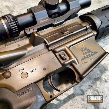 Cerakoted Battleworn Don't Tread On Me Tactical Rifle