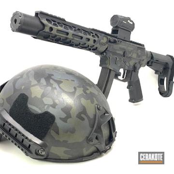 Cerakoted Matching Cerakote Multicam Finish On This Helmet And Ar