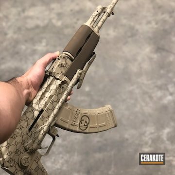 Cerakoted Gucci Themed Ak Rifle