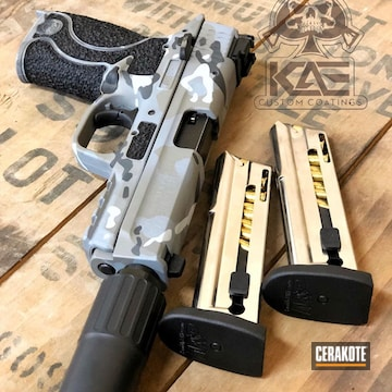 Cerakoted Custom Cerakote Camo Finish Using H-213, H-234 And H-242