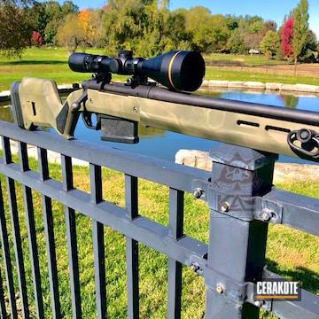 Cerakoted Cerakote Kryptek Finish On This Remington 700 Bolt Action Rifle
