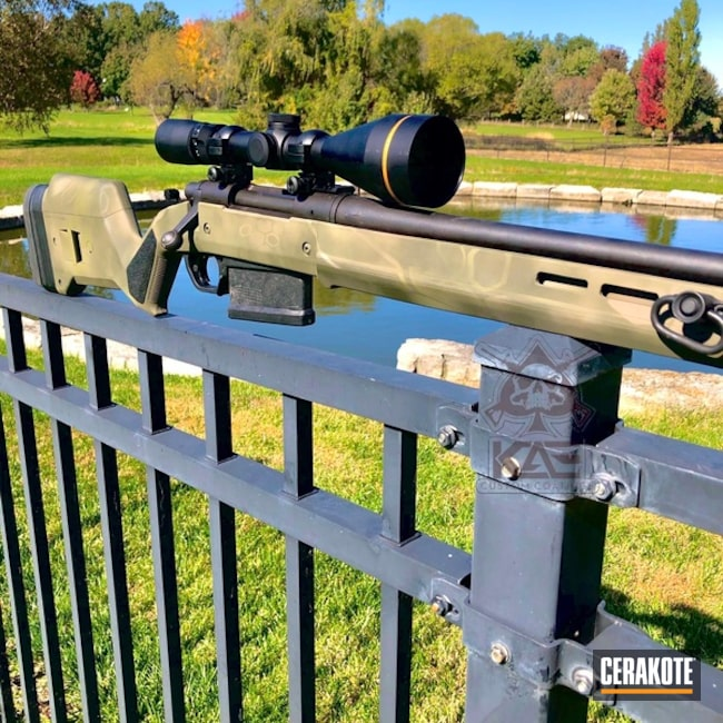 Cerakoted: Bolt Action Rifle,S.H.O.T,Desert Sage H-247,MAGPUL® FLAT DARK EARTH H-267,Deer Rifle,vx-3i,Remington,Kryptek,HAZEL GREEN H-204,Patriot Brown H-226,Gun Coatings,Leupold,Remington 700,Magpul Hunter