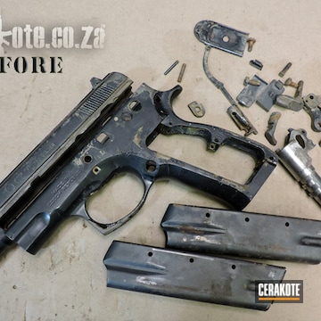 Cerakoted Before And After Cz 75 Rescue