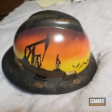 Cerakoted Custom Oil Field Themed Hard Hat