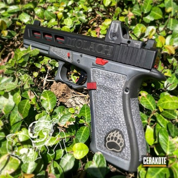 Cerakoted Two Toned Glock 20 Handgun With Cerakote H-234 Sniper Grey