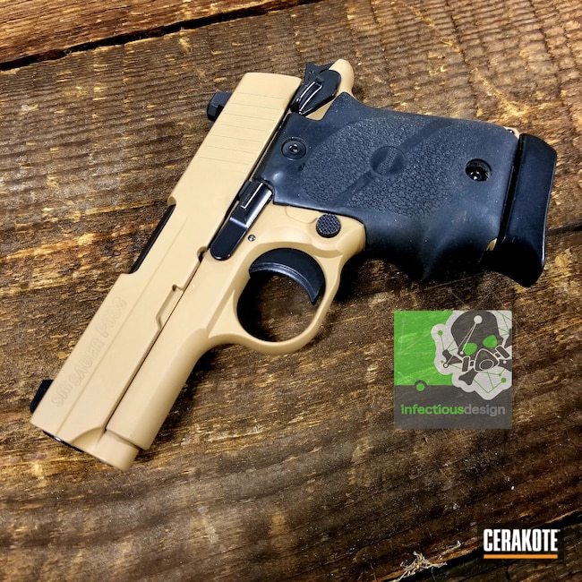 Cerakoted: SHOT,9mm,20150 E-190,Sig Sauer P938,Conceal Carry,Two Tone,Pistol,Sig Sauer,Gun Coatings,Handguns,Semi-Auto