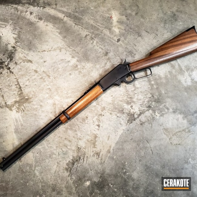 Cerakoted: SHOT,Midnight Blue H-238,Marlin,Hunting Rifle,Restoration,Lever Action,Corrosion Protection,Refinished,Gun Coatings,Marlin 1892,MATTE CERAMIC CLEAR MC-157