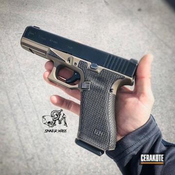 Cerakoted Laser Engraved Glock 17 Cerakoted With H-261 Glock Fde